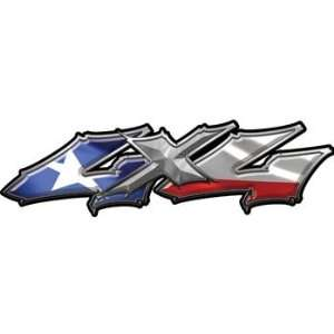 Wicked Series 4x4 Truck Bed Side Decals with Texas Flag