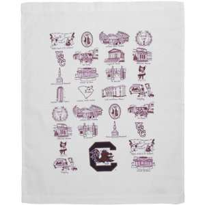 South Carolina Gamecocks White Campus Life Tea Towel