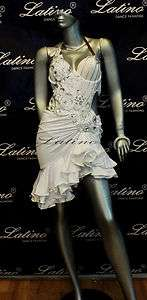 LATIN SALSA(BALLROOM) COMPETITION DRESS SIZE M (LT232R)
