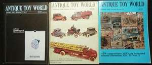 Antique Toy World Magazine 17 Issues 1987 1990 Free S&H