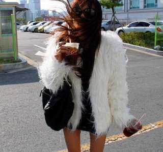New Womens Fashion Casual Faux Fur Coats Jackets Blacks, Whites, Grays
