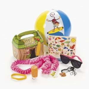 Beach Monkey Filled Treat Boxes   Party Favor & Goody Bags