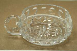 BOHEMIAN CZECH CUT CRYSTAL CANDY DISH   ESTATE