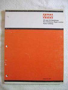 Case 33 & 34 Backhoe Parts Manual for W Series Loaders
