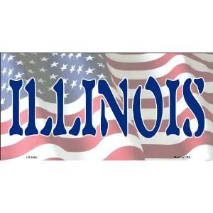 American Flag (Illinois) License Plate