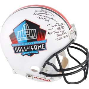 Emmitt Smith and Jerry Rice Autographed Helmet  Details 5