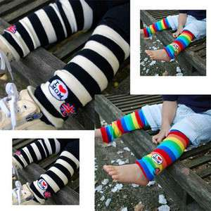 1x Stripe Baby Toddler Arm Leg Warmers Leggings Socks