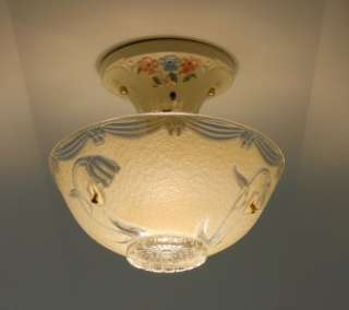 Deco Porcelain Porcelier Ceiling light fixture Chandelier Antique Lamp