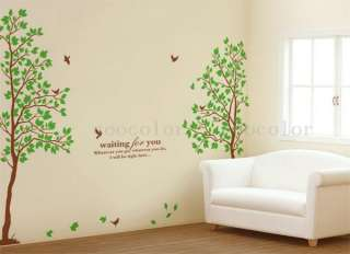 60*90CM Lovers Tree Removable Vinyl Decal Art DIY Home Decor Wall