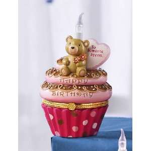 Cupcake Trinket Box Teddy Bear Someone Special