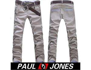 Handsome Fashion 2011 PJ Mens Stylish Slim Fit Casual Pants Trousers