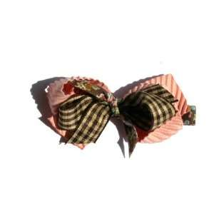 Ribbon Mix Bow Baby Girl & Toddler Hair Clip (Dusty Rose Pink) Baby