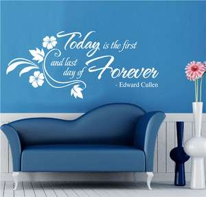 Forever ~ Twilight Edward Cullen Wall Quote Art Mural Decal Vinyl