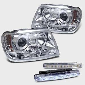 Eautolight 99 04 Grand Cherokee Chrome Ccfl Projector Head