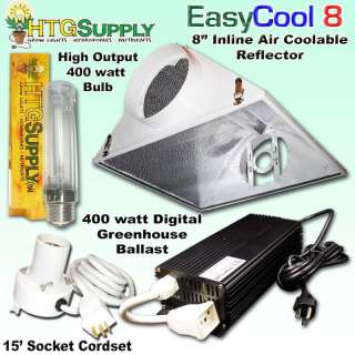 Digital 400 watt HPS GROW LIGHT 400w 8 AIR COOLED HOOD
