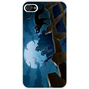 Rikki KnightTM Halloween Blue Sky Black Cat White Hard