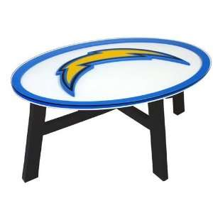 San Diego Chargers Helmet Design Coffee Table