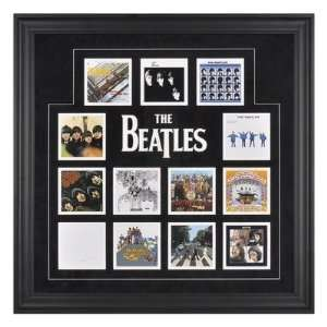 The Beatles U.K. Album Covers Framed Presentation   26.5