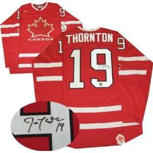 Joe Thorton Autographed/Hand Signed Jersey Team Canada