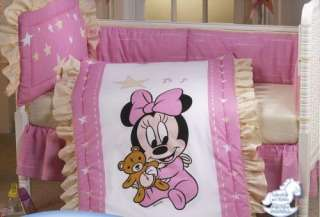 NEW Disney Baby Minnie Mouse Crib Bedding Nursery Set 5 Pieces