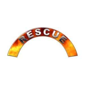 Rescue Real Fire Firefighter Fire Helmet Arcs / Rocker Decals