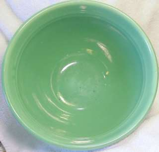 Bauer Pottery Jade Green Ring Ware Mixing Bowl # 12 USA c 1930