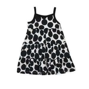 NWT Carters Big Girls Black & White Polka Dot Jersey Sun Dress