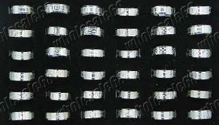 mix lots 50pcs fashion silver tone charms stainless steel rings high Q