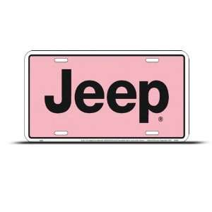 Jeep Pink Metal Novelty Car Auto License Plate Wall Sign