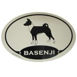 Euro Style Oval Dog Decal Basenji  Pet Supplies Pet