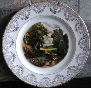 Decorated Plates ♦ 22K Gold Rim ♦ English Country Sheep +