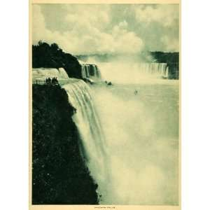 Photogravure Niagara Falls River Waterfall Ontario Canada New York