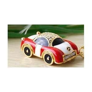 Lovely 8GB Red Crystal Car Design USB Flash Drive with