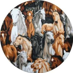 Horses Collage Art   Fridge Magnet   Fibreglass reinforced plastic