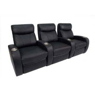 Rialto Home Theater Seating   Row of 3 (Black)