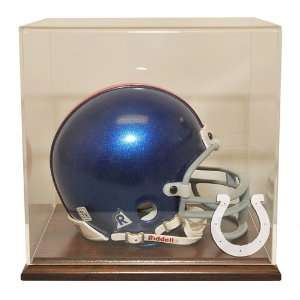 Indianapolis Colts Mini Helmet Display Case with Walnut