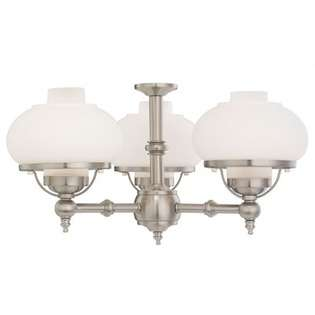 Monte Carlo Fan Company Three Light Branched Ceiling Fan Light Kit