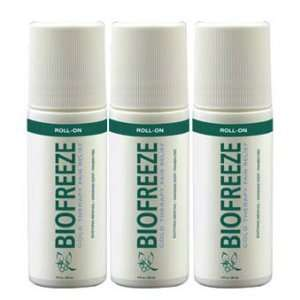 Biofreeze Pain Relieving Roll On, 3 Ounce (Pack of 3