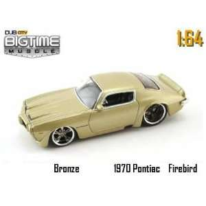 Big Time Muscle Bronze 1970 Pontiac Firebird 164 Scale Die Cast Car