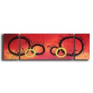 Rings Of Fire Hand Painted Canvas Art Oil Painting