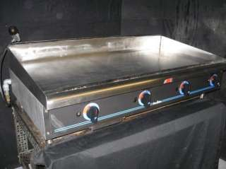 Max Commercial Stainless Steel Counter Top Propane Gas Griddle Grill