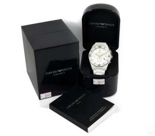 New* Ladies Emporio Armani Mens Watch AR1424 Quartz White