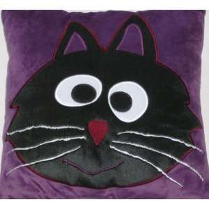 Halloween Black Cat Accent Pillow & Super Soft Throw