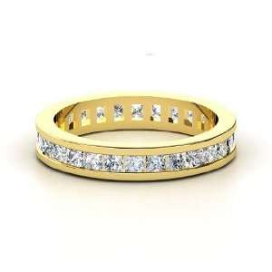 Brooke Eternity Band, 14K Yellow Gold Ring with Diamond Jewelry