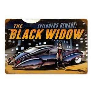 The Black Widow Vintage Metal Sign Hot Rod Classic