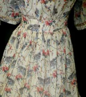 VICTORIAN 1850s 1860s PRE CIVIL WAR 1PC SUMMER GAUZE LADYS DRESS GOWN