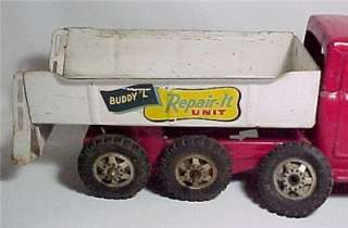 Vintage Buddy L Repair it Unit Tow Truck Wrecker Toy Pressed Steel