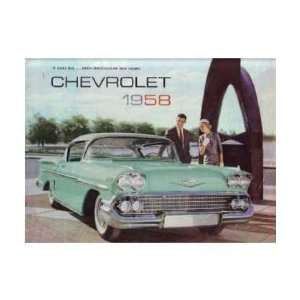 1958 CHEVROLET Sales Brochure Literature Book Piece