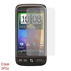 Gino 3 Pcs Clear LCD Touch Screen Guard for HTC Desire G7
