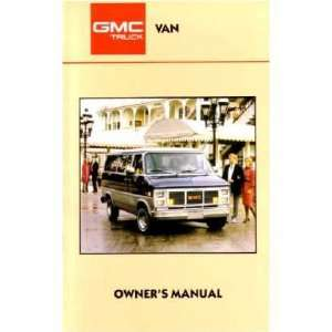 1987 GMC G VAN Owners Manual User Guide Automotive